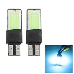 Merdia T10 1.5W 300LM COB 2SMD LED Highlight Ice Blue Light for Car Instrument Light / Daytime Running Light(Pair / 12V)