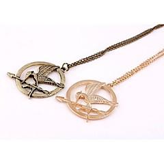 Mocking Bird Lovers LOGO Circular Pendant Necklace (1 Pc)