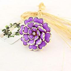 Fashion Acrylic Flower Shield Ring Random Color
