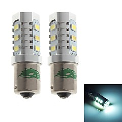 Zweihnder 1156 12W 1100lm 6000-6500K 12xSMD 5630 LED White Light Bulb for Car Reversing Light (12-24V,2 Pieces)