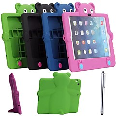 Cartoon Style Silicone Shockproof Case with Stand for iPad mini 1/2(Assorted Colors)