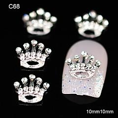10pcs Birthday Rhinestone Crown DIY Alloy Accessories Nail Art Decoration