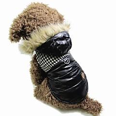 Perros / Gatos Abrigos / Bandanas y Sombreros Negro / Marrón Invierno Houndstooth