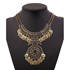 Z&X®  Vintage Luxurious Antique Golden Coins Statement Necklace