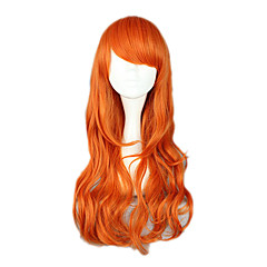 Cosplay-Peruukit One Piece Nami Oranssi Medium Anime Cosplay-Peruukit 65 CM Heat Resistant Fiber Naaras