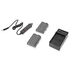 3.7V 1500mAh EN-EL3e kamera baterie pro Nikon D90 / D200 / D300s / D700 / D80 / D70 / D50 s nabíječkou (2 baterie + nabíječka 1)