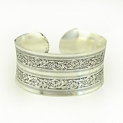 1PCS Fashion Carved Silver Bracelet N0.3