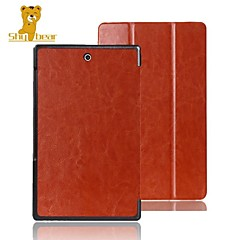 """Shy Bear™ 8"""" Inch Leather Cover Stand Case  for Sony Xperia Tablet Z3 Compact"""