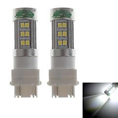 zweihnder 3157 15w 1400lm 6000-6500k 27xsmd 2835 Ampoule LED lumière blanche pour l'éclairage voiture de brouillard (12-24, 2 pièces)