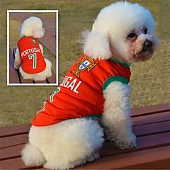 Gatos / Perros Camiseta Rojo Verano Deporte Boda / Cosplay