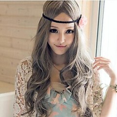 Lolita Wigs Sweet Lolita Princess Curly / Long Gray Lolita Wig 80 CM Cosplay Wigs Solid Wig For Women