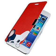 Dog Pattern Magnetic Flip Full Body Case with Hole for iPhone 6