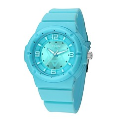 Vilam® 13001-B Fashion Women's Round Dial Rubber Band Citizen 2035 Analog Quartz Watch (Assorted Colors)