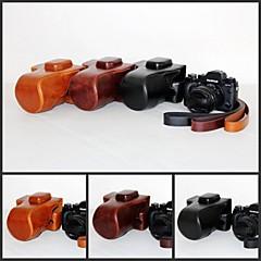 pajiatu® retra PU-Leder Kamera Schutzhülle Tasche Cover für Fujifilm Fuji X-t1 xt1 mit 18-55mm Objektiv