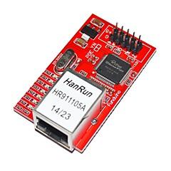 elektroniset lohkot W5100 ethernet-moduulin Ethernet verkon moduuli punainen kilpi Arduino