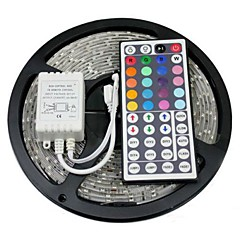 Z®ZDM Waterproof 5M 150X5050 SMD RGB LED Strip Light with 44Key Remote Controller (DC12V)