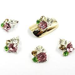 12 színben új csillogó gyémánt matrica glitter 3d szelet por dekoráció beállítva