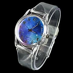 motif de ciel fantastique bande quartz transparent montre-bracelet analogique des femmes