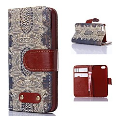 Decorative Design Pattern PU Leather Case for iPhone 4/4S