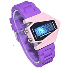 Unisex Watch Sport Dial Silicone Strap Color Aircraft LED Display Lmitation Ceramic Wrist Watch (Assorted Colors)