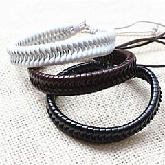 Lederen armbanden Uniek ontwerp Met de hand gemaakt Modieus Leder Sieraden Wit Zwart Koffie Sieraden VoorFeest Dagelijks Causaal