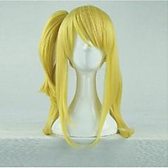 Cosplay Wigs Fairy Tail Lucy Heartfilia Golden Medium Anime Cosplay Wigs 60 CM Heat Resistant Fiber Female