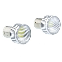 1157 (P21/5W Ba15d) 3W 3COB 220-260LM 6500-7500K White Light Led Bulb for Car Reversing Lamp (DC12V /2pcs)
