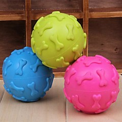 כלבים צעצועים לחיות מחמד כדור / צעצועי לעיסה חריקה / עצם צבע אקראי גומי