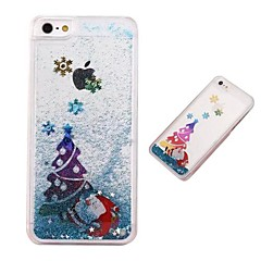 Fashion Transparent Glitter Sand Bling Quicksand Christmas Tree Pattern Case Cover for iPhone 5/5S(Assorted Colors)
