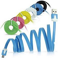 micro usb płaski makaron synchronizacji Kabel USB do Samsung Galaxy Note 4 / S4 / S3 / s2 i Huawei / HTC / Sony / LG (różne kolory)