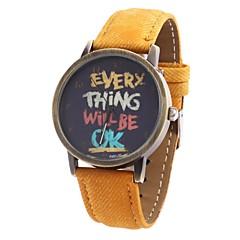 Women's Pattern Dial Fabric Band Quartz Analog Wrist Watch (Assorted Colors)
