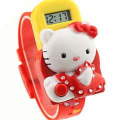 barnas runde dial gummi band elektron watch