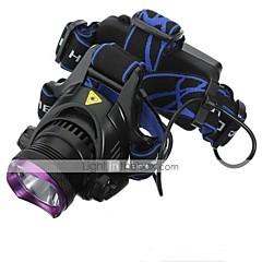 Освещение Налобные фонари LED 2200 Люмен 3 Режим Cree XM-L2 18650 Водонепроницаемый / ПерезаряжаемыйПоходы/туризм/спелеология /