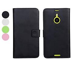 effen kleur pu leer full body case met standaard en kaartsleuf voor Nokia Lumia 1520 (verschillende kleuren)