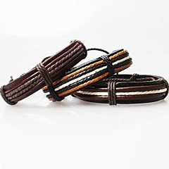 Z&X®  Vintage Tibetan Handmade Men's Leather Bracelets (1pc, 3 Colors Options) Jewelry Christmas Gifts