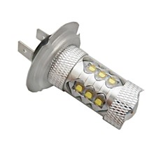 H7 CREE LEDx16 80W  6500K -7000K  White Light LED Bulb for Car (12-24V,1pc)