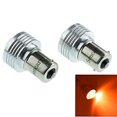 1056 (BAU15S PY21W) 3W 3COB  635-700nm Red Light LED for Reversing Lamp (DC12V /2pcs)