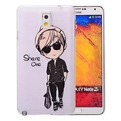 Handsome Boy Pattern PC Brushed Case for Samsung Galaxy Note 3