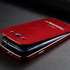 två-i-ett kx varumärke metallram full metal bakplatta metall hårt fodral för Samsung Galaxy S3 (blandade färger)