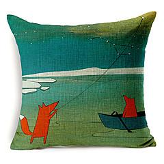 maan tyyliin leija Flying Fox kuvio puuvilla / pellava koriste tyyny