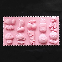 Plants Vs Zombies Cake Mold Ice Jelly Chocolate Mold,Silicone 21.5×11.2×1.3 CM(8.5×4.4×0.5 INCH)