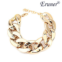 Eruner® Women's Wide Chunky Golden Chain Bracelet