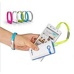 usb με τα στοιχεία καρπό μπάντα Micro USB καλώδιο φόρτισης για Samsung S4 / 5 HTC LG και άλλοι (διάφορα χρώματα)