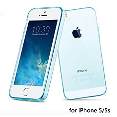 hot venda ultra fino estilo estojo flexível transparente TPU para iPhone 5 / 5s (cores sortidas)