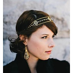 Europese parel kwastje legering hoofdbanden (goud) (1 st)