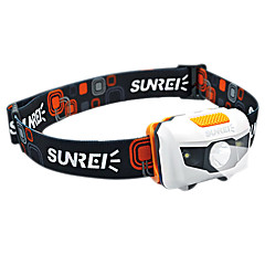 SUNREI Waterproof 4-Mode 1*Cree R3 and 2 White Light LED Headlamp(122LM,3*AAA,Orange)