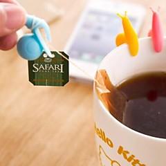 multifunctionele slak vormige siliconen materiaal thee gereedschap (willekeurige kleur / 1 stuks)
