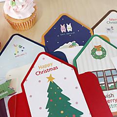 belle stripe style carte de Noël (5pcs)