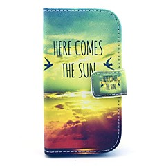 Comes The Sun Pattern PU Leahter Full Body Cover with Stand and Card Slot for Samsung Galaxy Trend Plus S7580/S7562