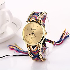 Women Big Circle Dial  National Hand Knitting Brand Luxury Lady Watch C&D-272